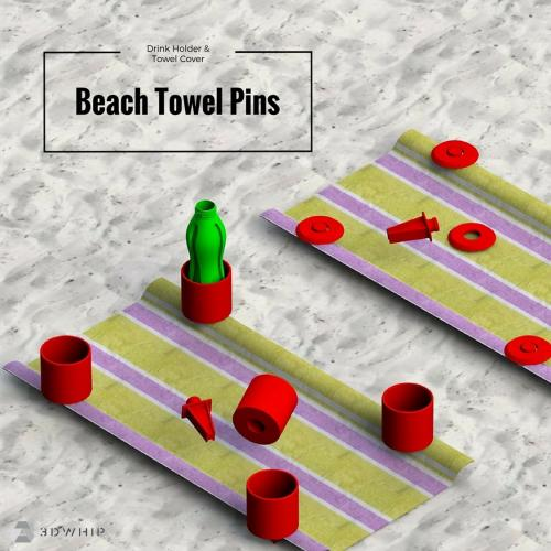 3D Printable Beach Towel Pins