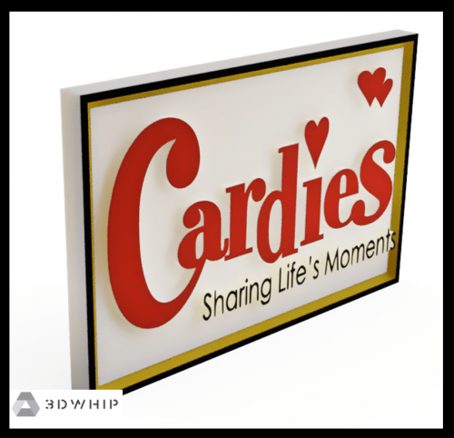 Signage Design: Cardies Version 1