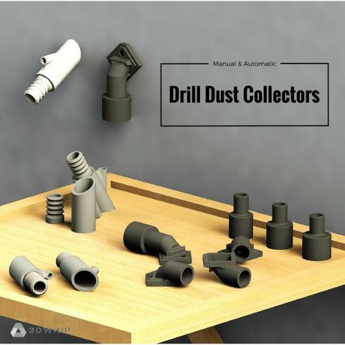 3D Printable Drill Dust Collector