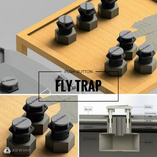 3D Printable Fly Trap Prototype