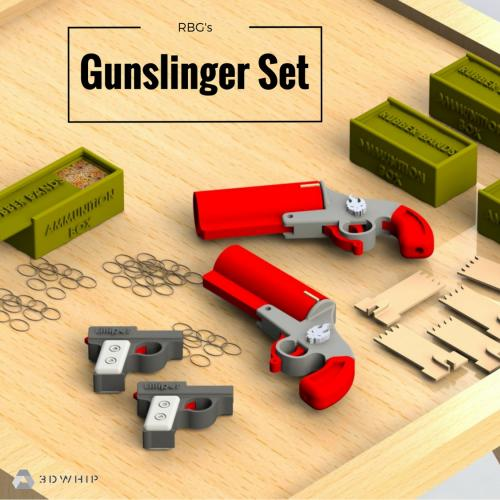 3D Printable Rubber Band - Gunslinger Set